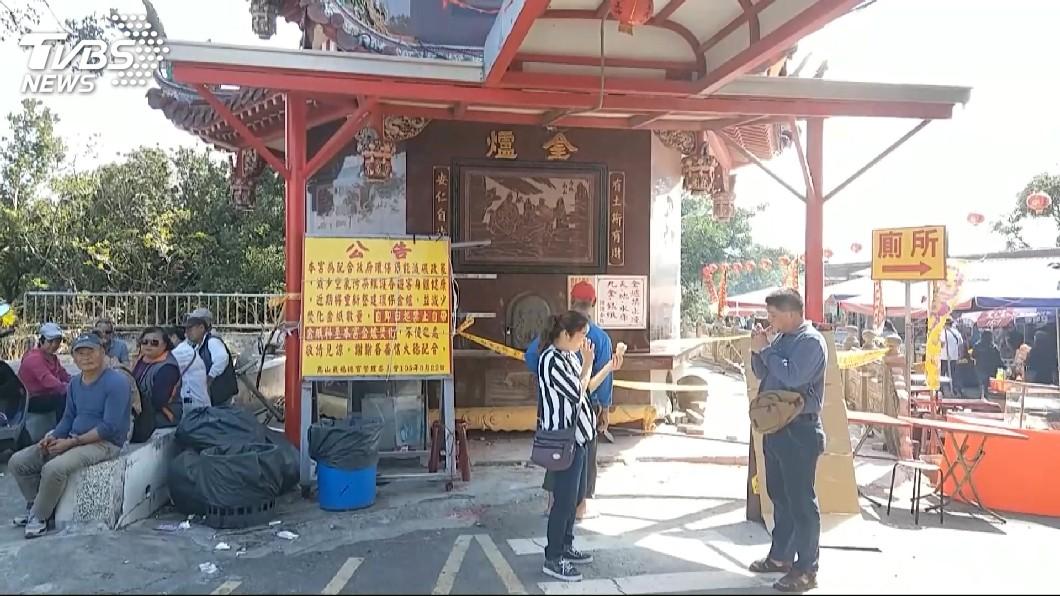 圖/TVBS 去年花百萬整修 金爐倒塌噴火如爆炸!