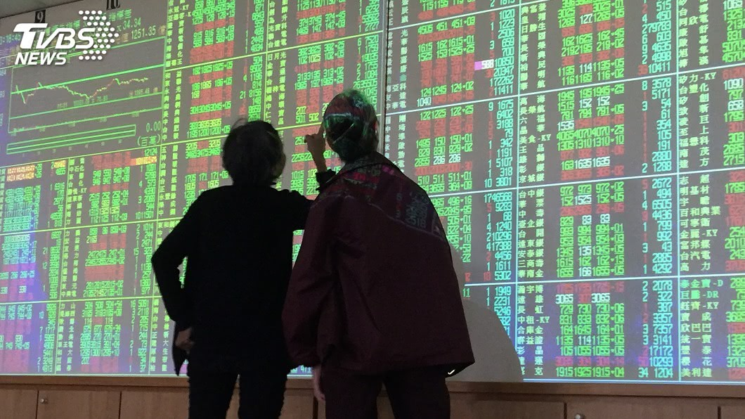 圖/中央社 風電概念股給力 台股盤中力守9600點