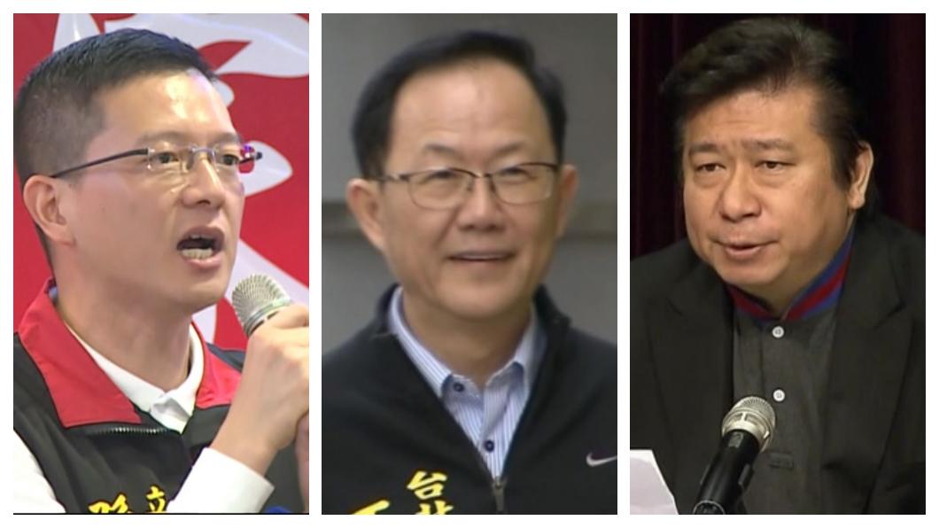 孫大千(左)、丁守中(中)、張顯耀(右)。合成圖/TVBS資料畫面 國民黨角逐北市長人數爆炸 提名人選4月出爐