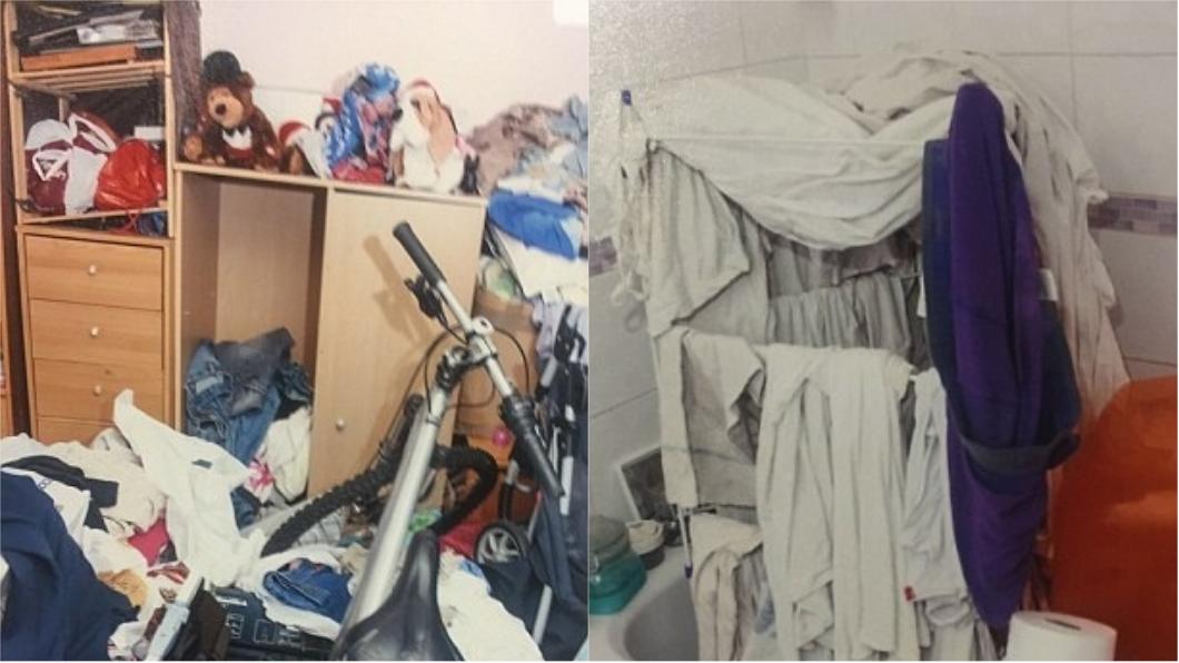 男嬰遭虐的公寓環境髒亂。