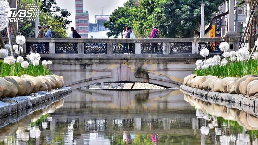圖/中央社 網傳綠川引自來水建清水池 中市府:荒謬謠言