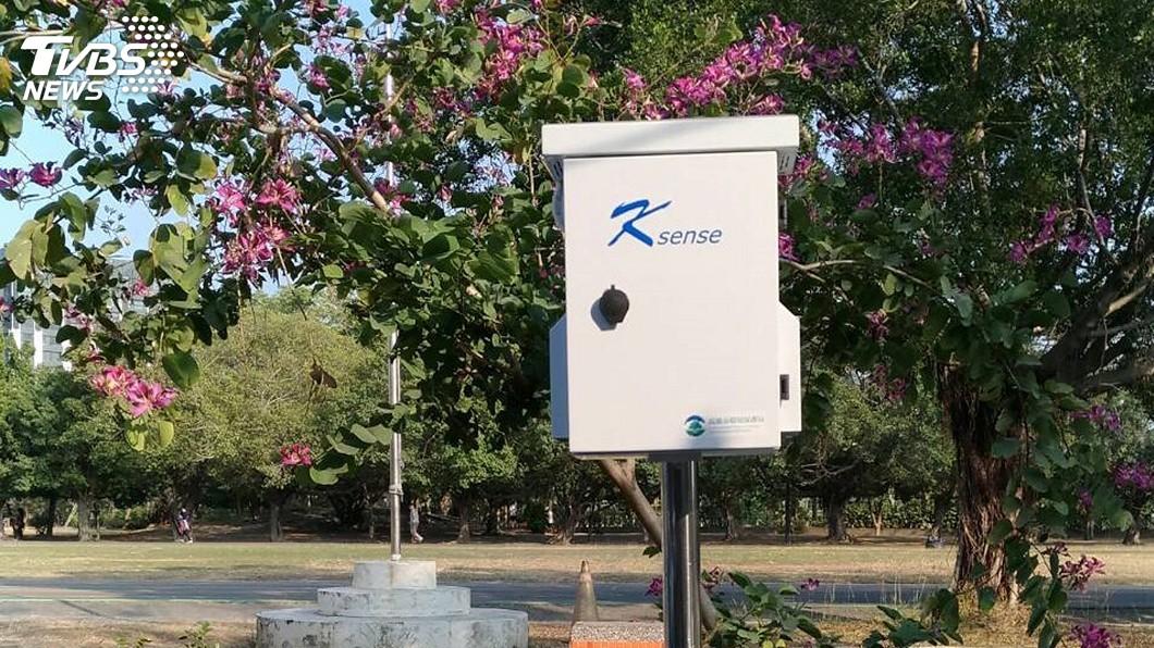 圖/中央社 空氣品質即時掌握 高市要密布500感測器