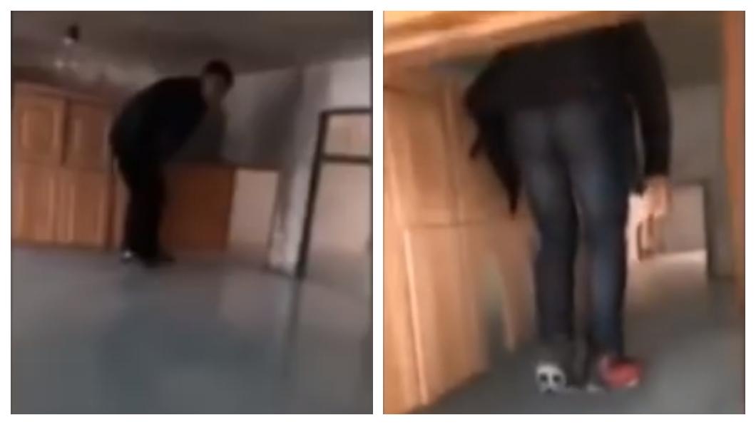 圖/截取自YouTube 水龍頭不耐-40度低溫爆開 屋主返家變「溜冰場」