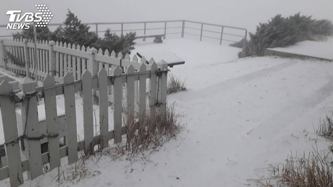 圖/中央社 高山雪季天氣詭譎 有無下雪都應帶足裝備