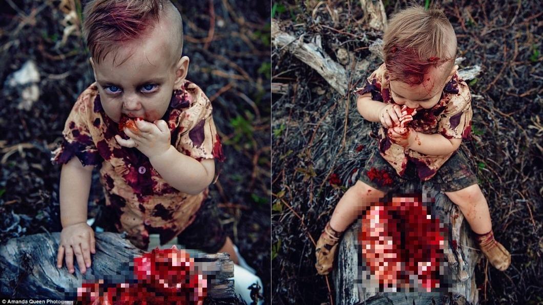 圖/翻攝自amanda queen photography。下同 1歲童生日血腥「吃人腦」 母被罵翻背後有洋蔥