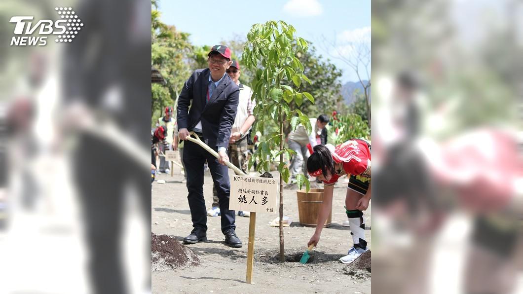 圖/中央社 中樞植樹 啟動國土生態綠色網路建置