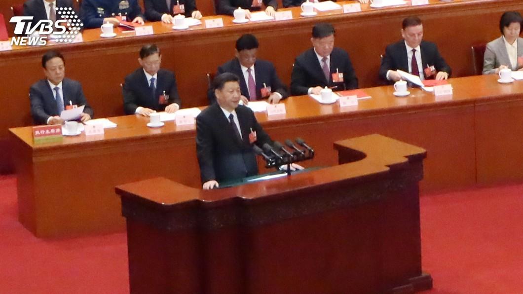 圖/中央社 中國人大閉幕 習近平:堅持一中反分裂