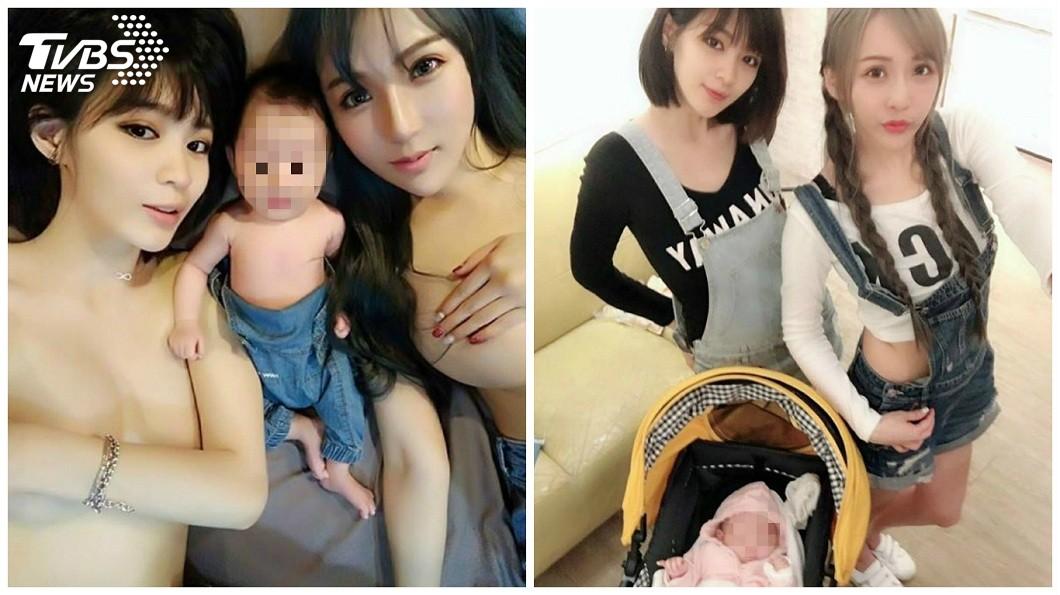 女網友「Echo Lee」表示,自己超感謝好友邱默默鼓勵她生下孩子,並且一起照顧她。(圖/臉書粉絲團「我和兩個媽媽」授權提供)