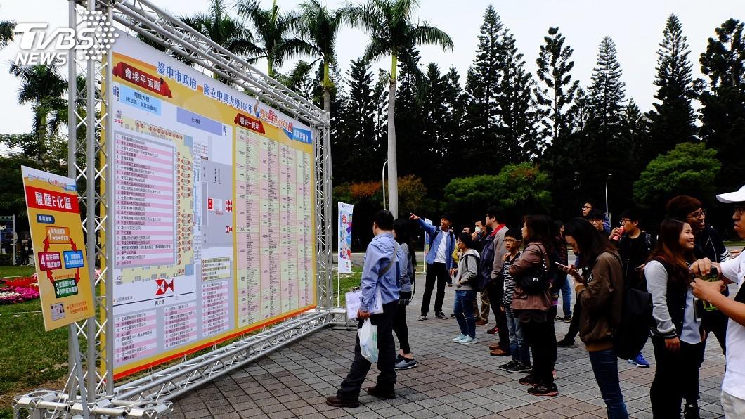 圖/中央社 中市就博會週末登場 釋近7000個職缺