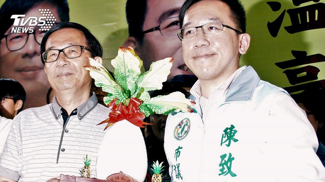 圖/中央社 陳致中上酒店成「舔耳案」翻版?扁嗆:綠營切割