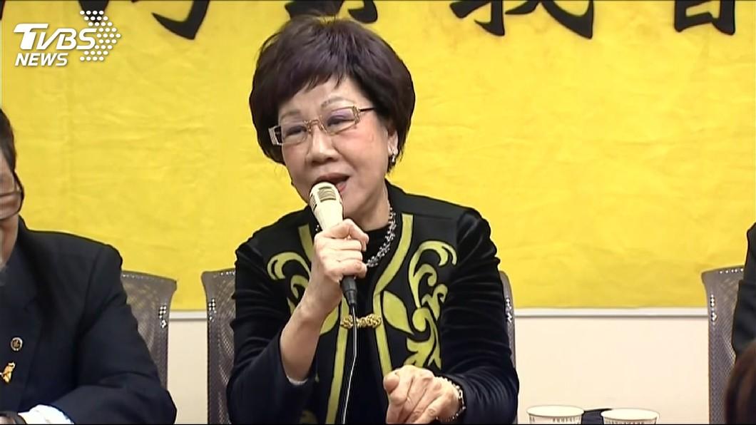前副總統呂秀蓮。圖/TVBS 諷柯P通共 呂秀蓮遭打臉「福建祭祖笑呵呵」