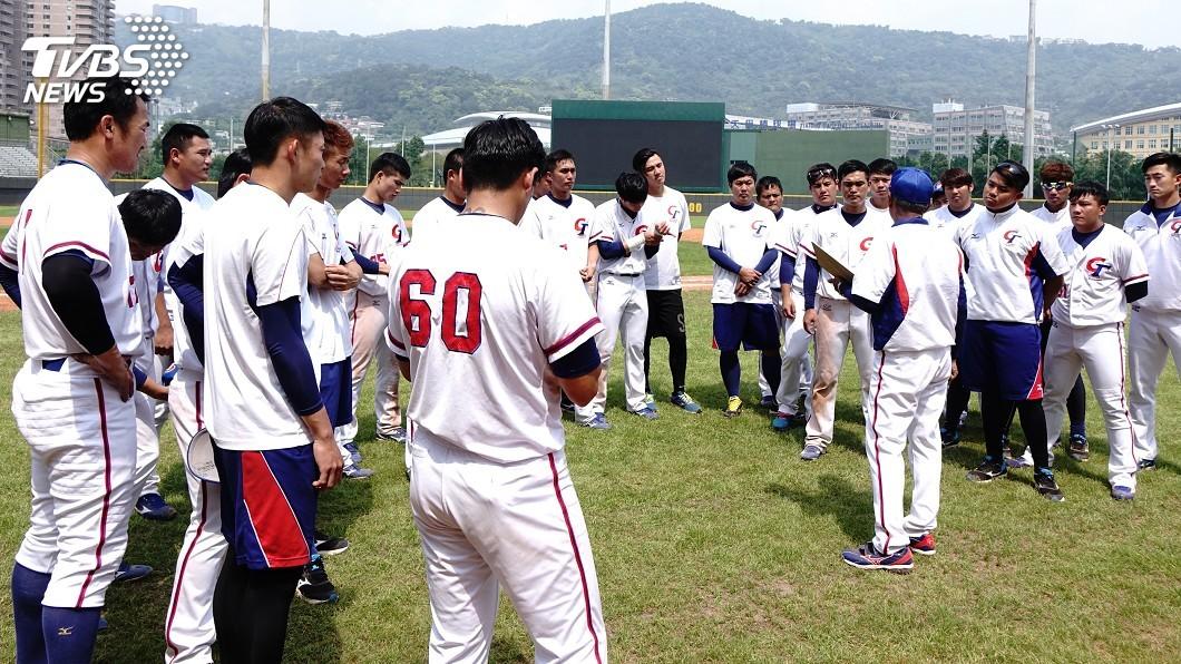 圖/中央社 亞運棒球培訓盯投手 蕭帛庭、林加祐開轟