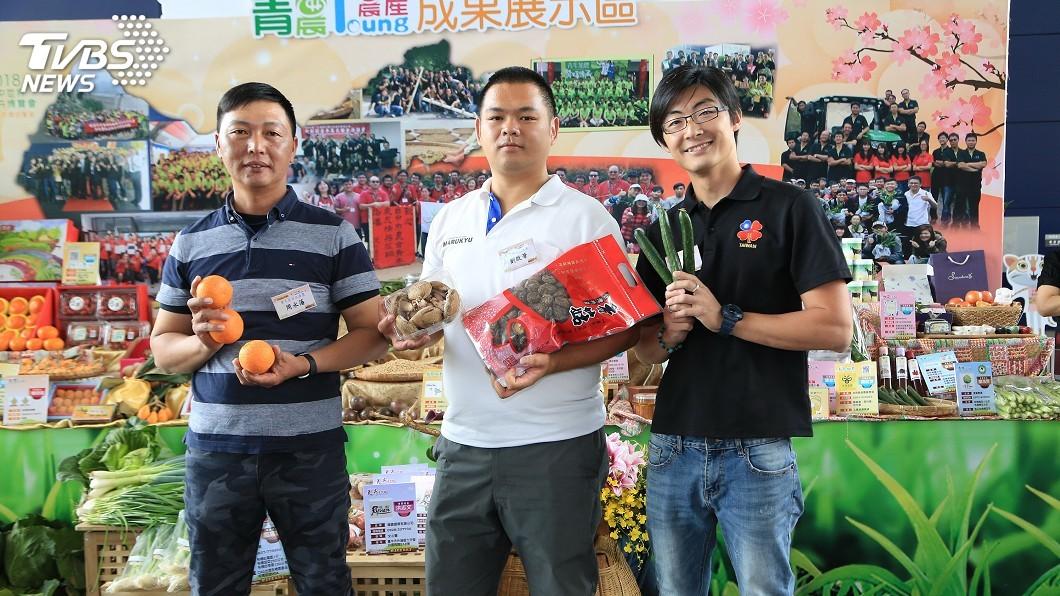 圖/中央社 農民節表彰大會 台中青農展示成果