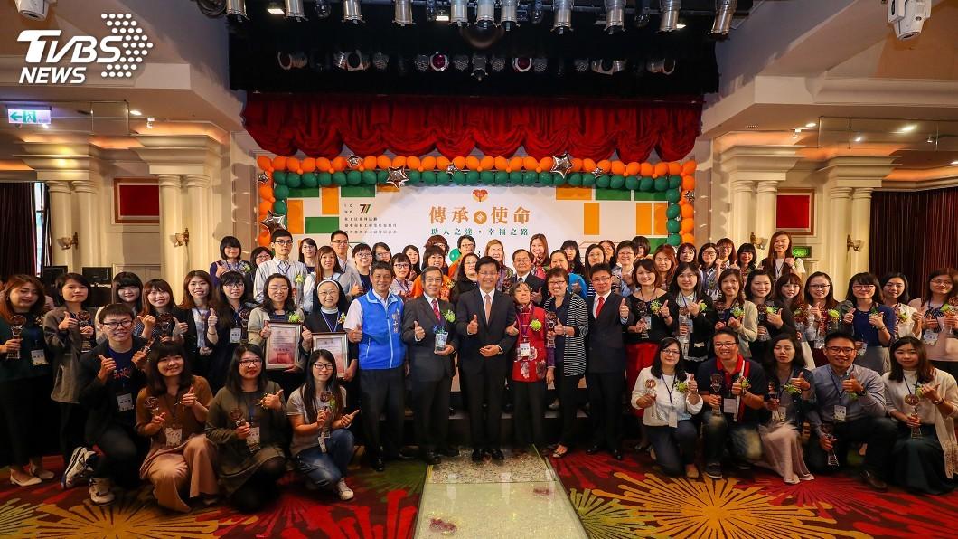 圖/中央社 歡慶社工日 林佳龍:給予最大支持
