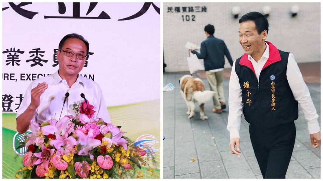 常務董事張永成(左)和台北市議員鍾小平(右),聯手砲轟北農人事案。(圖/合成案,翻攝自張永成和鍾小平臉書)