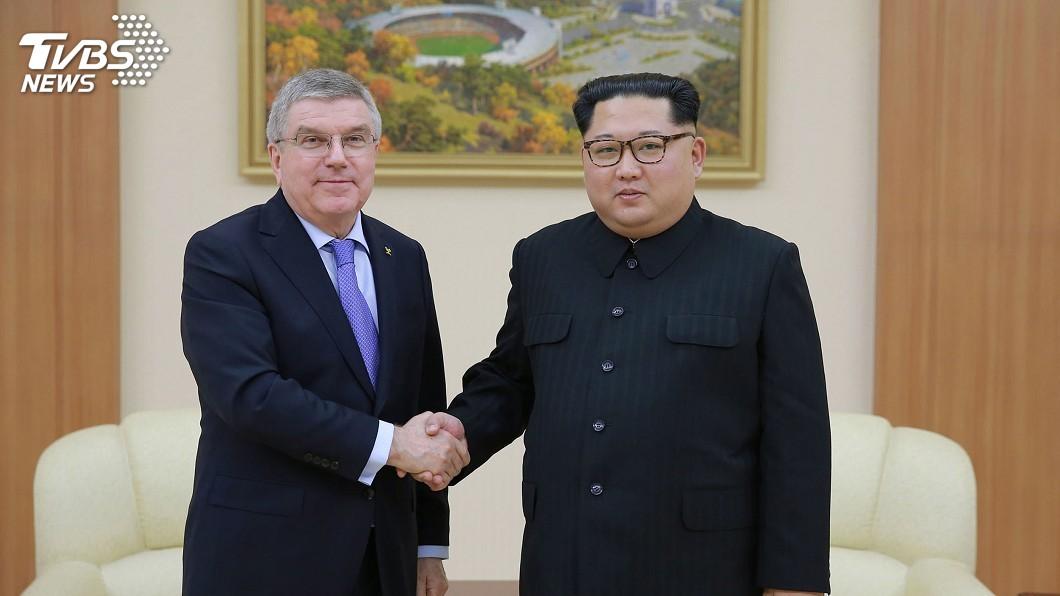 圖/達志影像美聯社 國際奧會主席訪平壤 金正恩親謝助兩韓冰釋