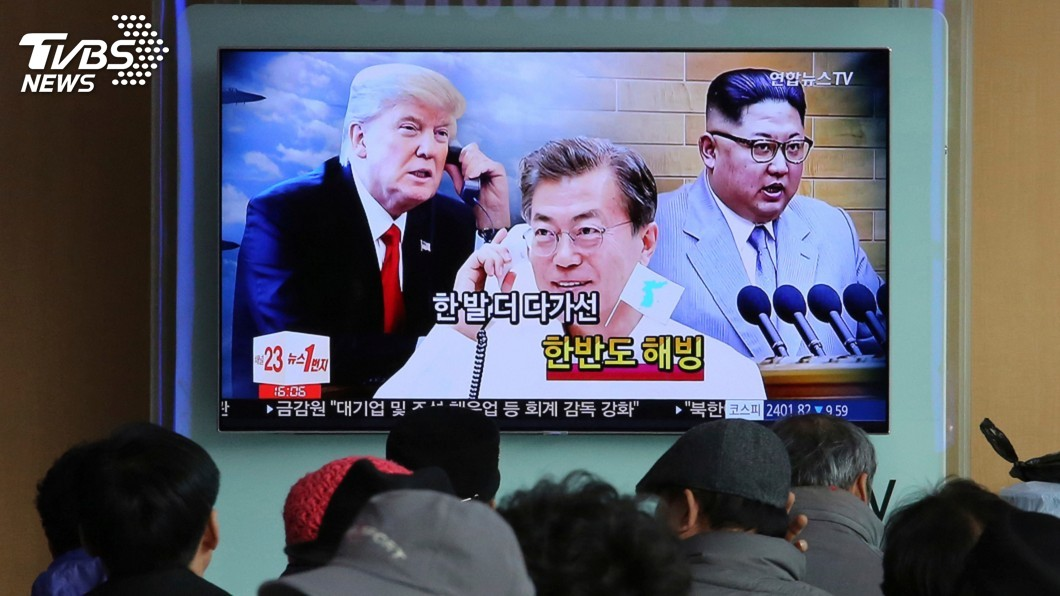 圖/達志影像美聯社 為半島和平 青瓦台盼舉行兩韓與美三方會談