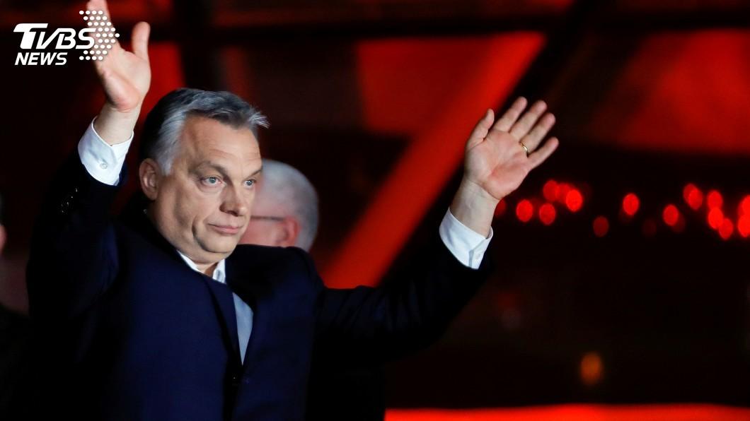 圖/達志影像路透社 篤定連任匈總理 奧班自封基督歐洲捍衛者