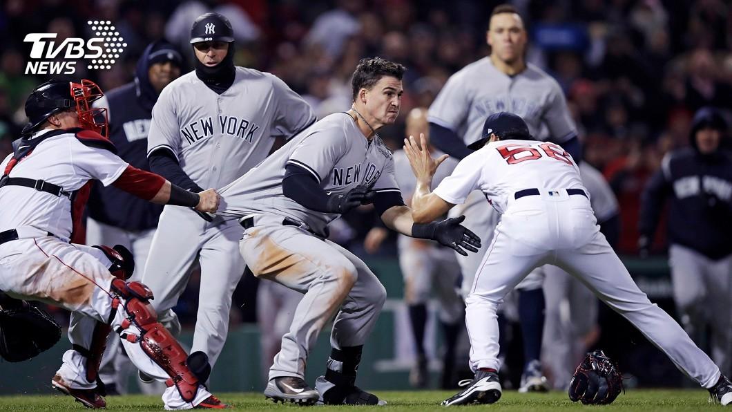 圖/達志影像美聯社 洋基紅襪爆發衝突 林子偉出場挺隊友