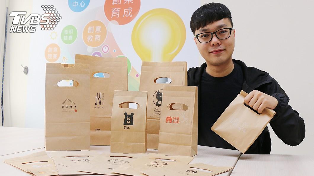 圖/中央社 馬國青年畢業留台創業 創意紙袋月銷10萬個