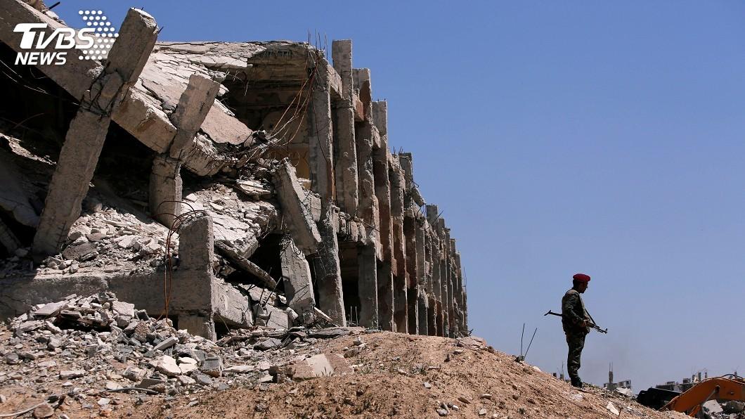 圖/達志影像路透社 敘政府軍收復東古塔 俄憲兵進駐度瑪鎮