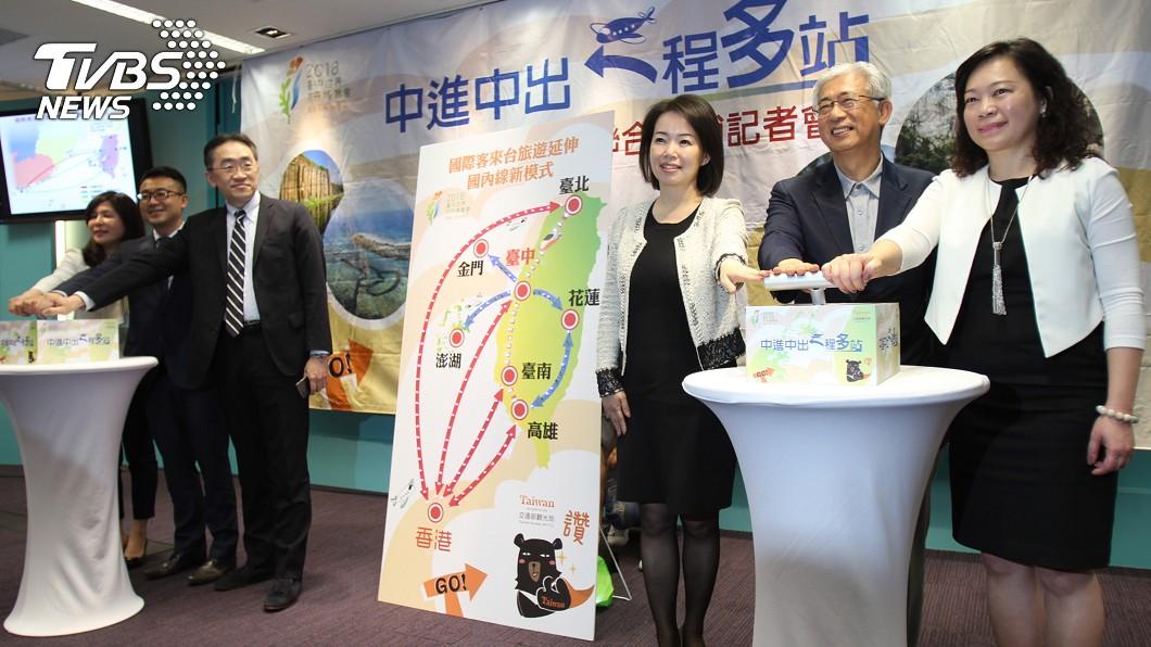 圖/中央社 台中入境一程多站 中市推國際國內旅遊套票