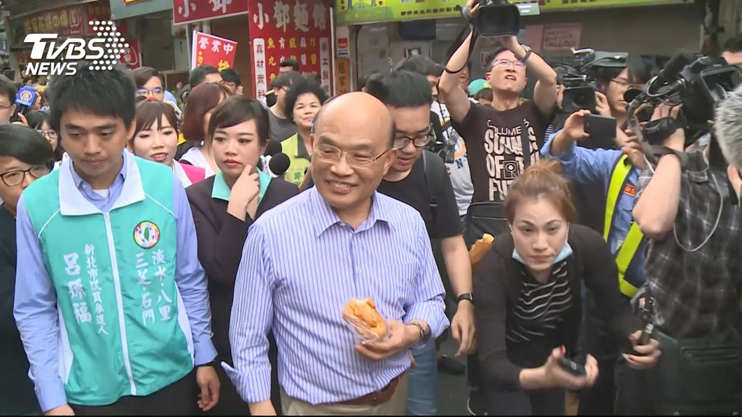 圖/TVBS 訪新北議會 蘇貞昌:選戰開始了