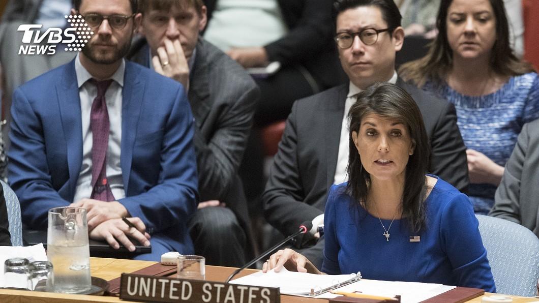 圖/達志影像美聯社 警告敘國不可再用毒氣 海莉:美子彈已上膛