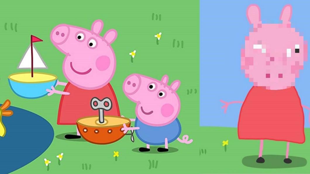 圖/翻攝(左)臉書及(右)推特 慎入!佩佩豬公開「正面照」讓小孩都崩潰了