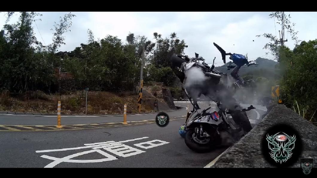 台七乙9K著名的「摔車彎」時常發生車禍事故。圖/翻攝自CyberEditing YouTube