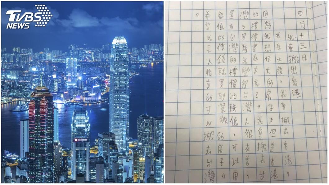 圖/示意圖(左)、翻攝自搣時潘臉書(右) 想住大房子…港小學生夢想「搬到台灣」 引發熱議