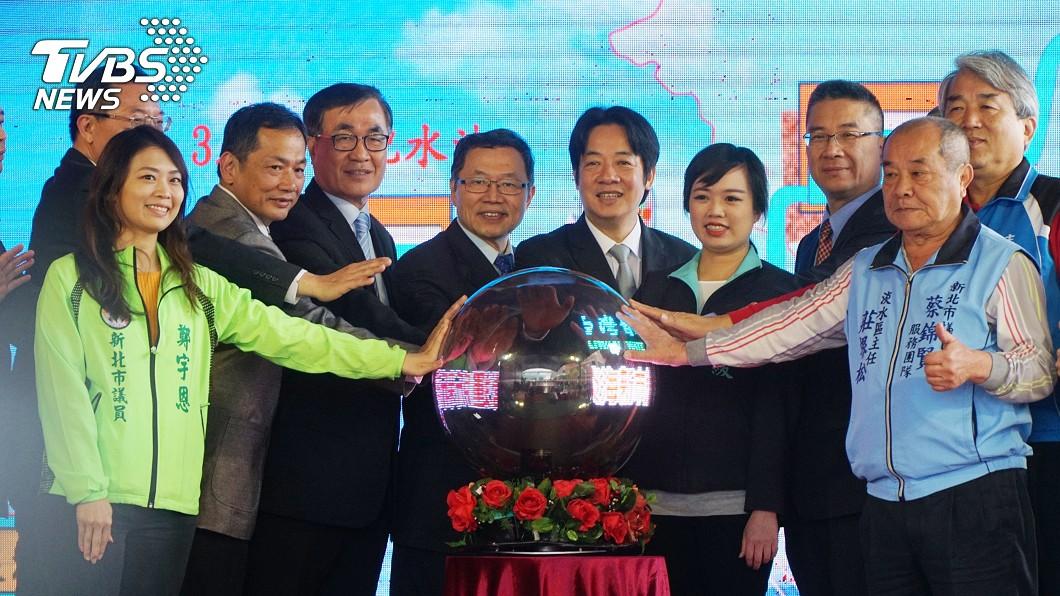 圖/中央社 3.5萬噸配水池完工 穩定淡海新市鎮供水