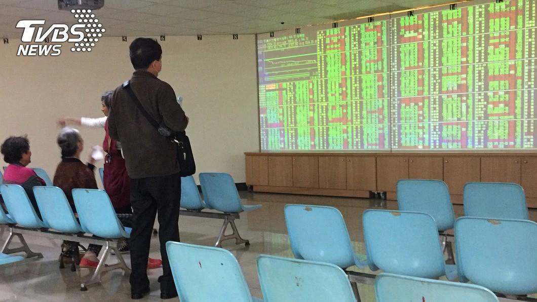 圖/中央社 貿易戰升溫 台股重挫盤中暫守年線