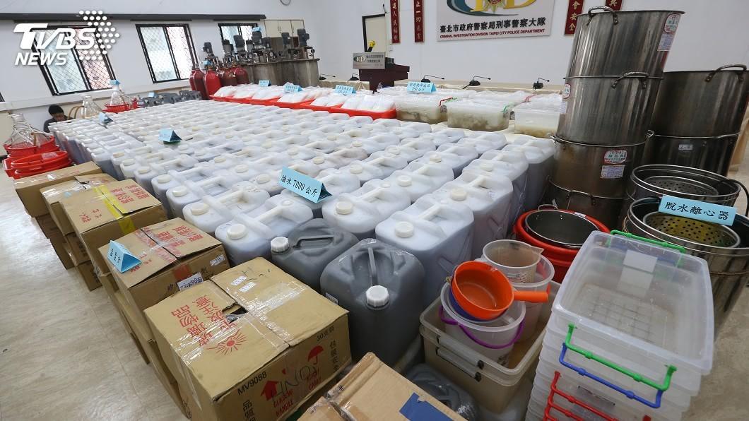 圖/中央社 市價約30億! 檢警破史上最大安毒工廠