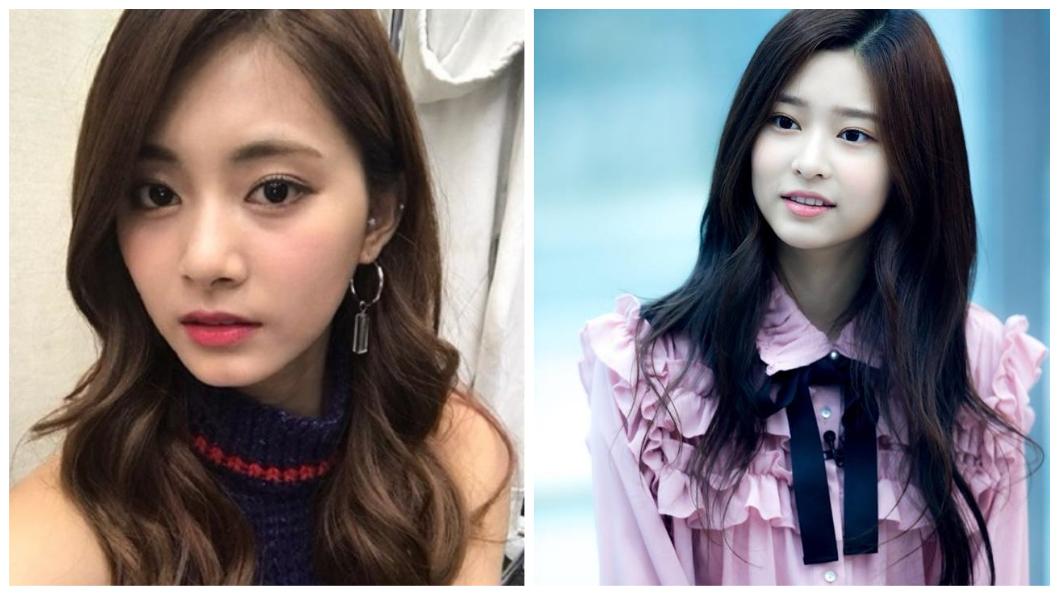 (左)TWICE成員周子瑜(右)練習生金敏珠。圖/翻攝自Instagram、臉書idolinews