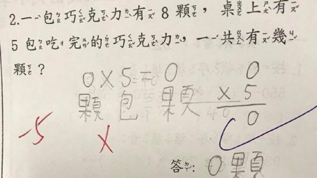 翻攝/爆怨公社 這道數學題「來陰的」?全班學生幾乎都答錯