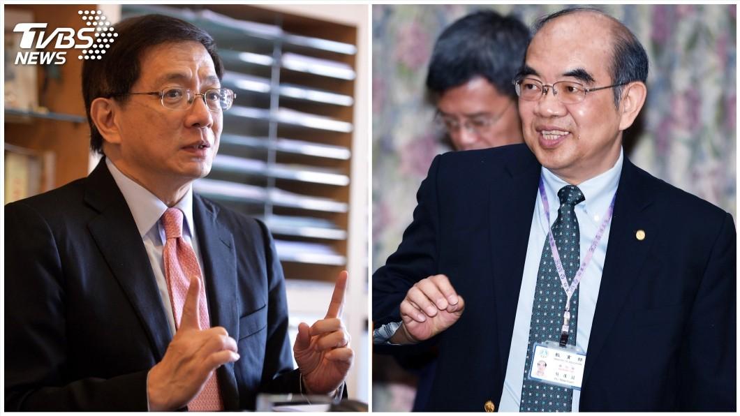 圖/中央社;台大校長當選人管中閔(左)、新任教育部長吳茂昆(右)