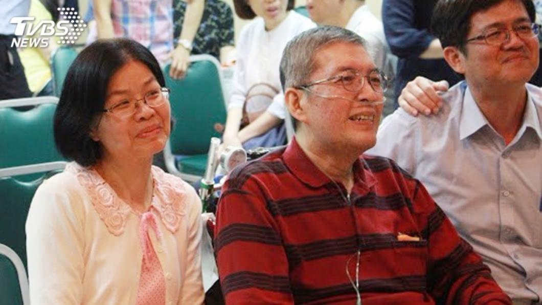 蘇健裕舉辦生前告,與200多位親友道別。圖/中央社(尹亞蘭提供)