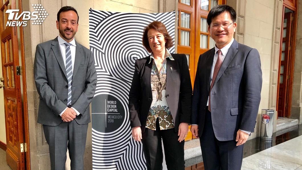 圖/中央社 參加設計會議 林佳龍邀各國參加花博
