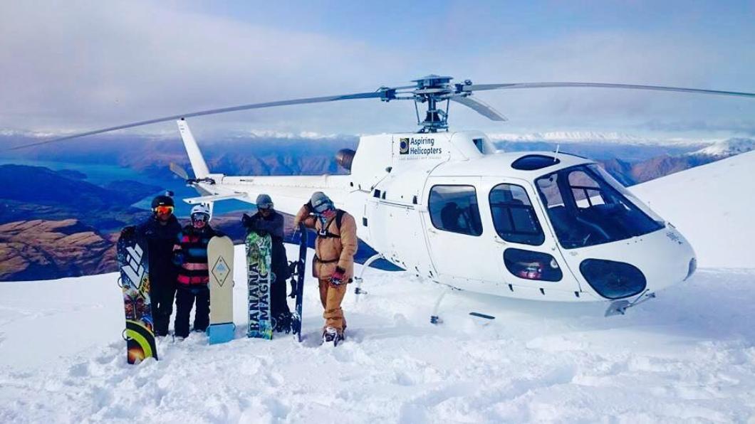 駕駛私人飛機去滑雪。圖/翻攝自Brendan Baker臉書