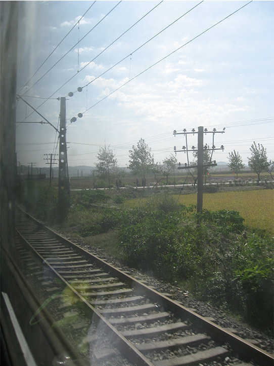 北韓鐵道。