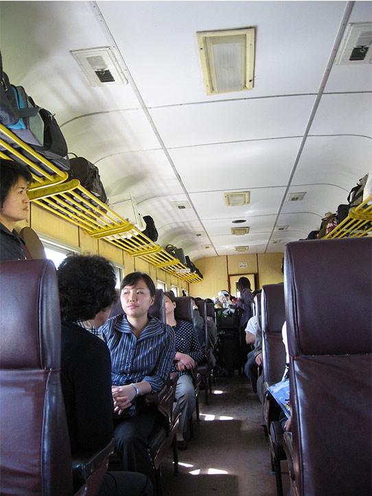平壤列車車廂。