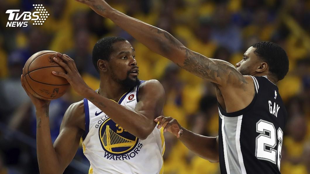 圖/達志影像美聯社 杜蘭特完美關門 NBA勇士4比1淘汰馬刺