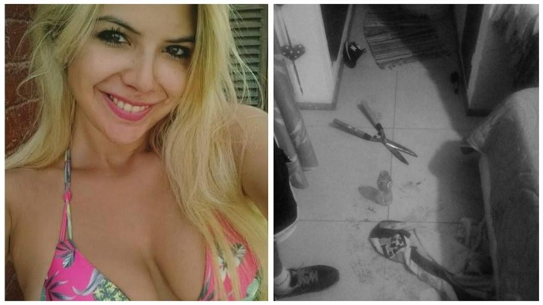 阿根廷一名金髮正妹氣男友外流他倆的性愛影片,一氣拿園藝用剪刀把對方的那話兒剪掉。(圖/翻攝自臉書) 氣男友外流性愛影片 正妹拿剪刀喀嚓他90%「那話兒」