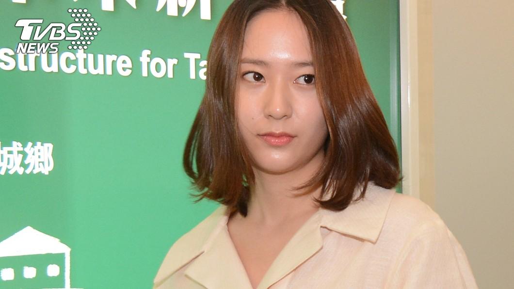 圖/中央社 韓星鄭秀晶抵台 擔任名錶開幕嘉賓