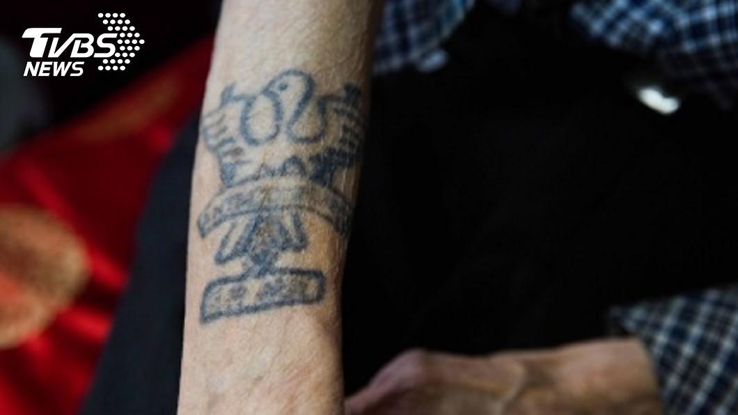 圖/中央社 韓戰老兵張文業 雙手刺青訴說大時代無奈