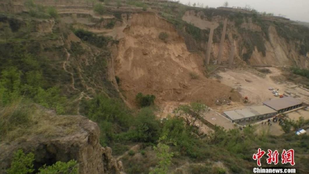 圖/翻攝自中國新聞網 中國山西呂梁市傳山崩 9人遇難