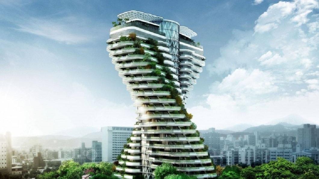 其實這棟造型獨特的建築,建案名稱是「陶朱隱園」。(圖/翻攝自中華工程股份有限公司臉書)