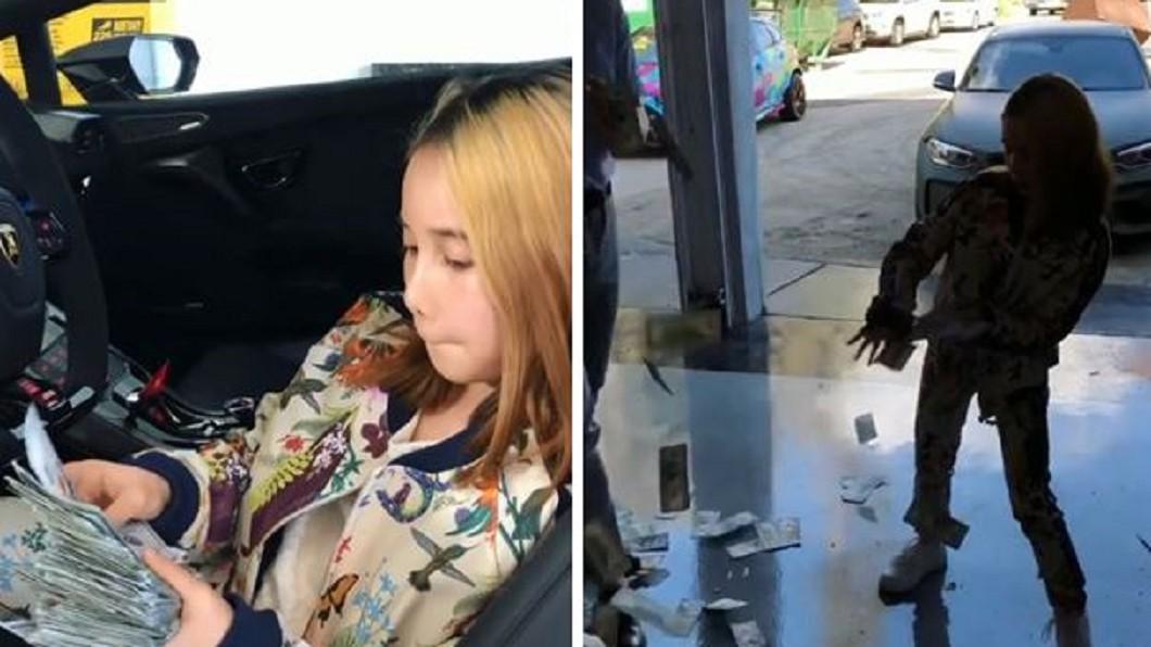9歲女靠著炫富爆紅。圖/翻攝Liltay Instagram 馬桶比你房租貴!9歲女炫富爆紅 撒錢跩嗆:你們是窮鬼