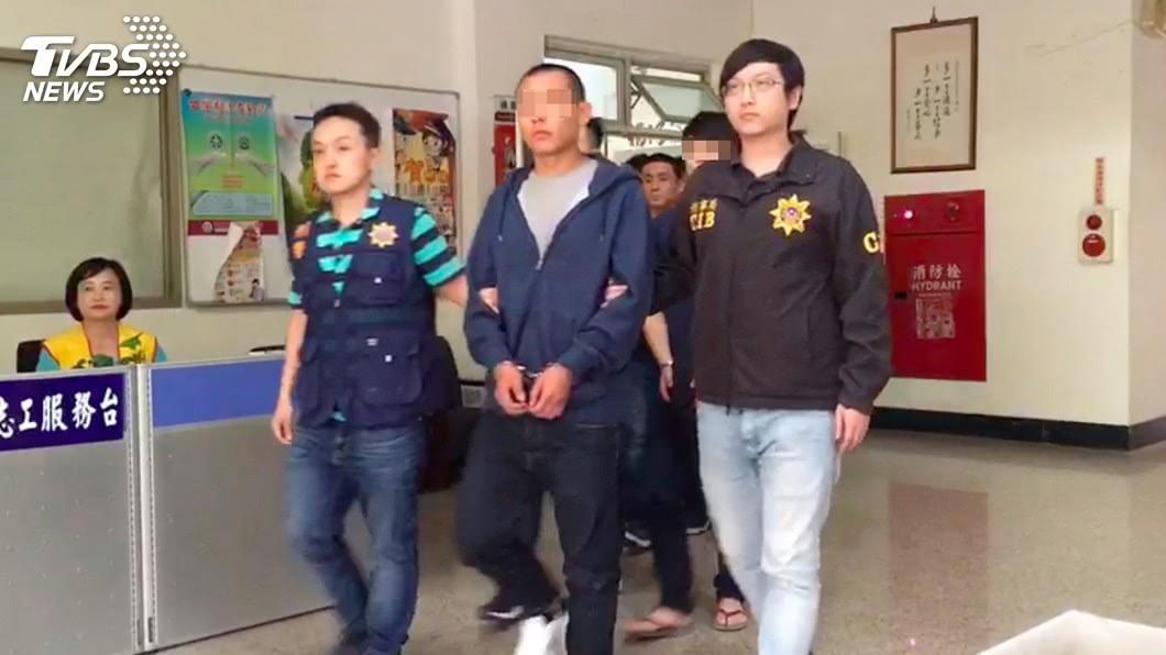 圖/中央社 持棍棒砸店 9名新竹幫派成員遭羈押